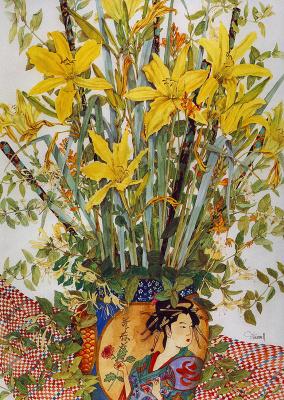 Джун Уэсселл. Желтый букет