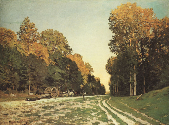 Claude Monet. The road of Chailly in the forest of Fontainebleau