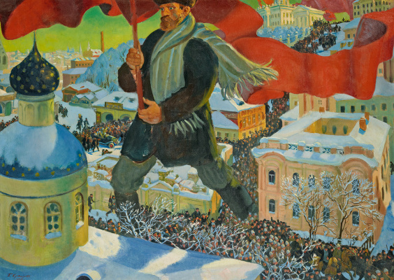 Boris Mikhailovich Kustodiev. Bolshevik
