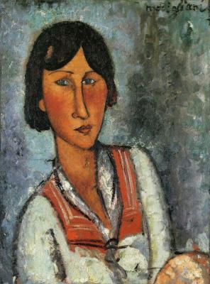 Амедео Модильяни. Портрет девушки в матроске