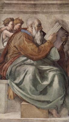 Michelangelo Buonarroti. The Prophet Zechariah