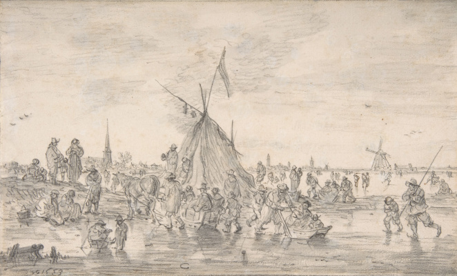 Ян ван Гойен. Зимний пейзаж