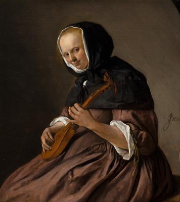 Женщина, играющая на ситтере