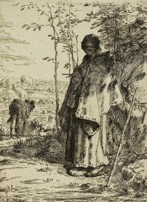 Jean-François Millet. Shepherdess