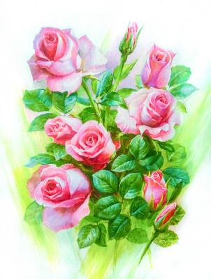 Victor Antipov. Rose bouquet