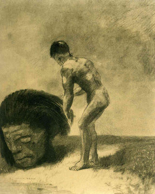 Odilon Redon. David and Goliath