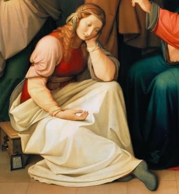 Johann Friedrich Overbeck. Christ in the house of Martha and Mary. Berggruen Museum, Berlin. detail