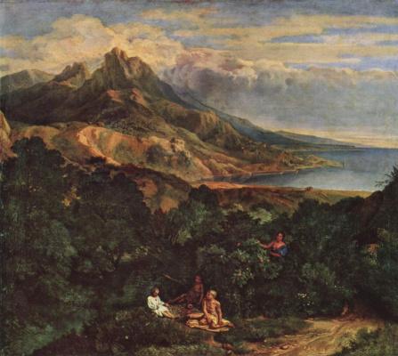 Jean-François Millet. Italian coastal landscape