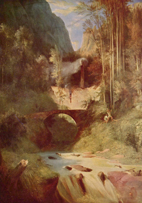 Карл Эдуард Фердинанд Блехен. Лесной овраг