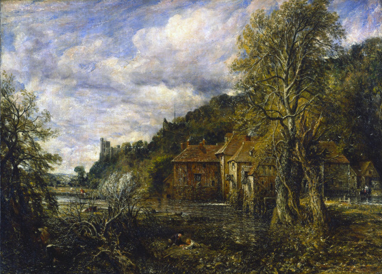 John Constable. Mill and Arundel castle, England