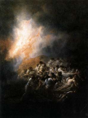 Francisco Goya. Fire in the night