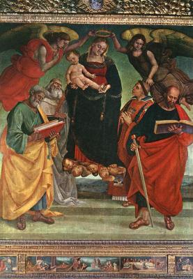 Лука Синьорелли. Мадонна с младенцем и святыми