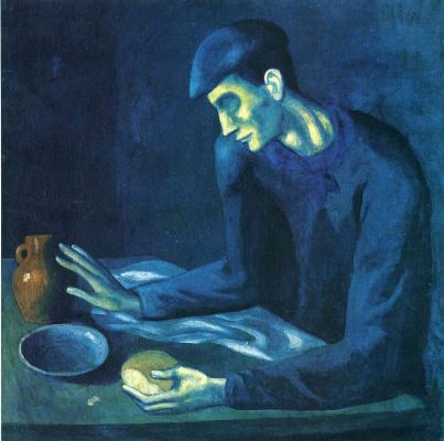 Pablo Picasso. Breakfast blind