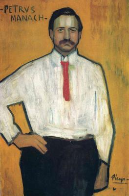 Pablo Picasso. The portrait of the picture dealer Pedro Manach