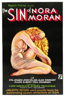 Альберто Варгас. Киноафиша. Грех Норы Моран. 1933
