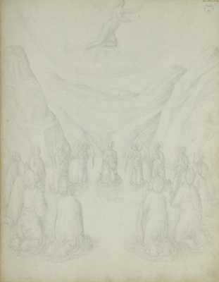 Jacopo Bellini. Ascension of Christ