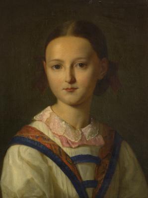 Фридрих фон Амерлинг. Портрет девушки.  53.3 х 40.6