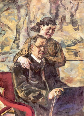 Petr Petrovich Konchalovsky. Self-portrait with wife