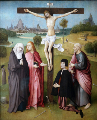 Hieronymus Bosch. Crucifixion with a donor