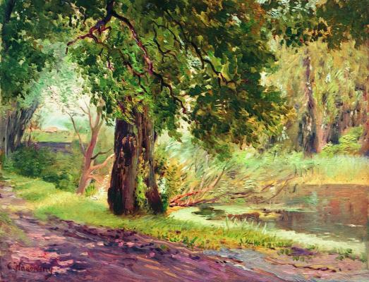 Konstantin Makovsky. Under the green branches (Summer landscape)