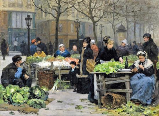 Виктор Жильбер Габриэль. Овощной рынок
