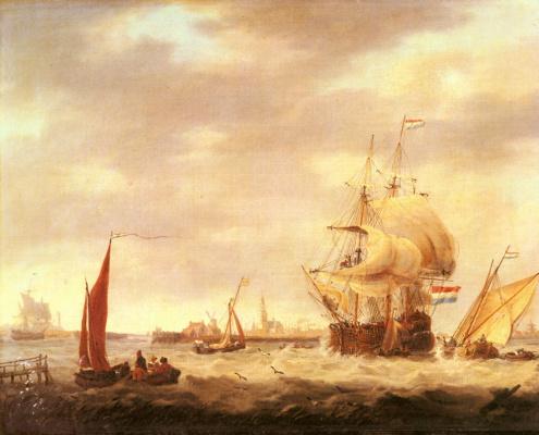 Джордж Уэбстер. Торговое судно и рыболовные суда от голландского побережья