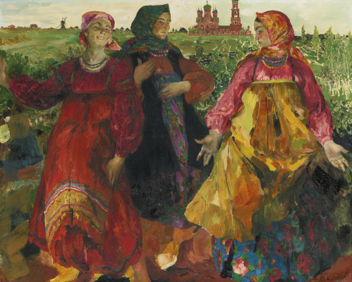 Philip Andreevich Malyavin. Three women