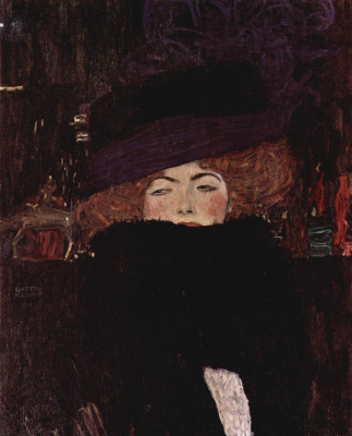Gustav Klimt. Lady with hat and feather boa