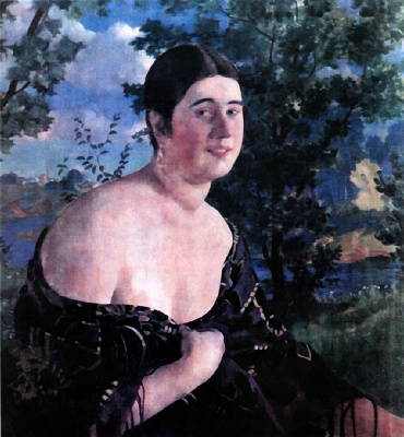 Борис Михайлович Кустодиев. Портрет О.И. Шимановской