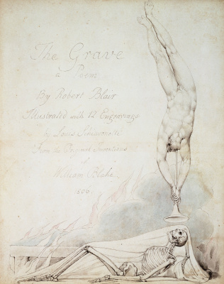 "William Blake. The design of the title page. Illustration to the poem by Robert Blair's ""the Grave"""