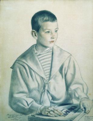 Борис Михайлович Кустодиев. Портрет Мити Шостаковича