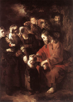 Nicholas Mas. Christ blesses the children