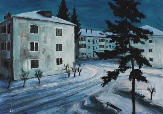 Денис Григорьевич Русаков. Sky, night, three white house
