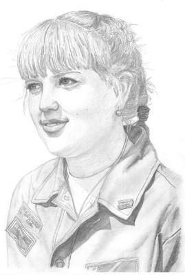 Ирина Владимировна Хазэ. Portrait of a girl, made with graphite pencils