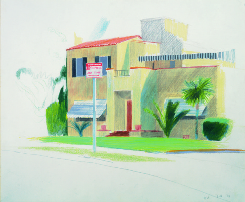 David Hockney. The house behind Chateau Marmont