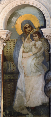 Mikhail Vasilyevich Nesterov. The virgin with the Baby. The painting of the iconostasis of the Northern aisle of the choir of St. Vladimir Cathedral in Kiev
