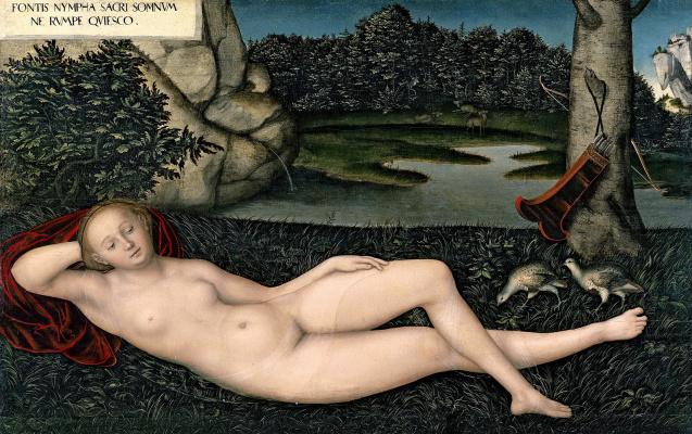 Lucas Cranach the Elder. Water nymph
