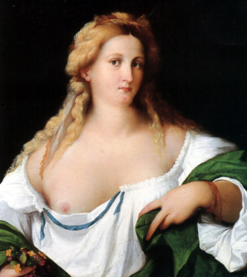 Джакомо д'Антонио де Нигретти Пальма Веккио. Светлая женщина