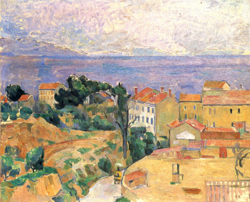 Paul Cezanne. View on the l'estaque