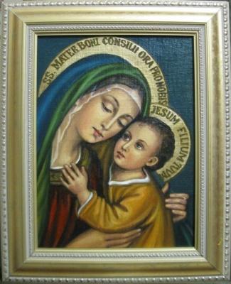 Ядвига Сенько. B. M. Good happy icon katolicheskaja (oil on canvas)