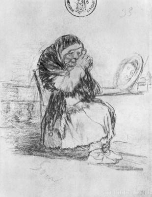 Франсиско Гойя. Старуха с зеркалом
