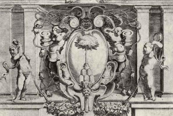 Лодовико Карраччи. Герб кардинала Бартоломео Чези