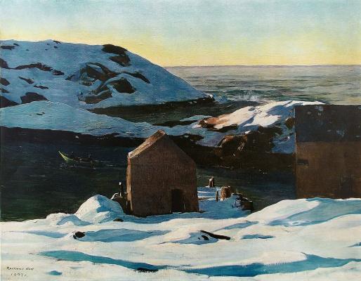 Rockwell Kent. Winter. Island Monhegan