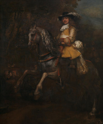 Rembrandt Harmenszoon van Rijn. Portrait of Frederick Rila mountains on horseback