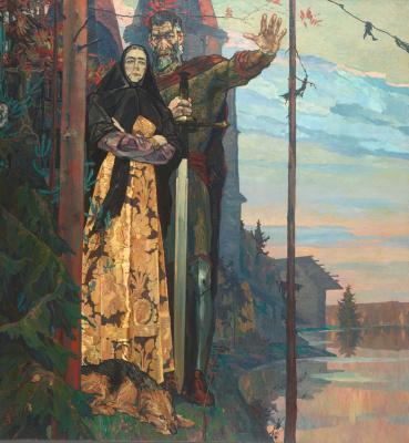 "Pavel Dmitrievich Korin. Northern ballad. The left part of the triptych ""Alexander Nevsky"""
