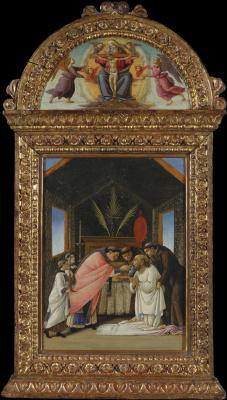 Sandro Botticelli. The last communion of St. Jerome