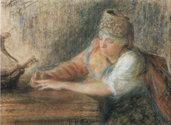 Иван Семенович Куликов. Задумалась. 1906