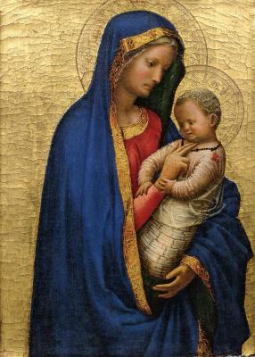 """Tommaso Masaccio. Madonna Cassini (""""Tickling Madonna"""")"""