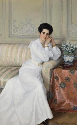 Nikolay Petrovich Bogdanov-Belsky. Portrait of Princess Gorchakova
