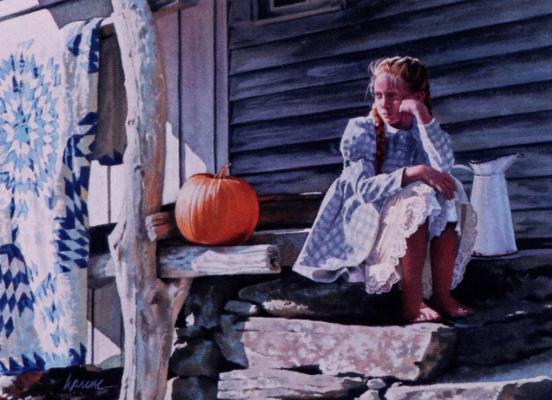 Heide Press. The girl and the pumpkin